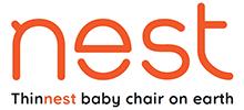Chair Nest – JP – •最も薄型の折り畳み式ベビーチェア、「ネスト」
